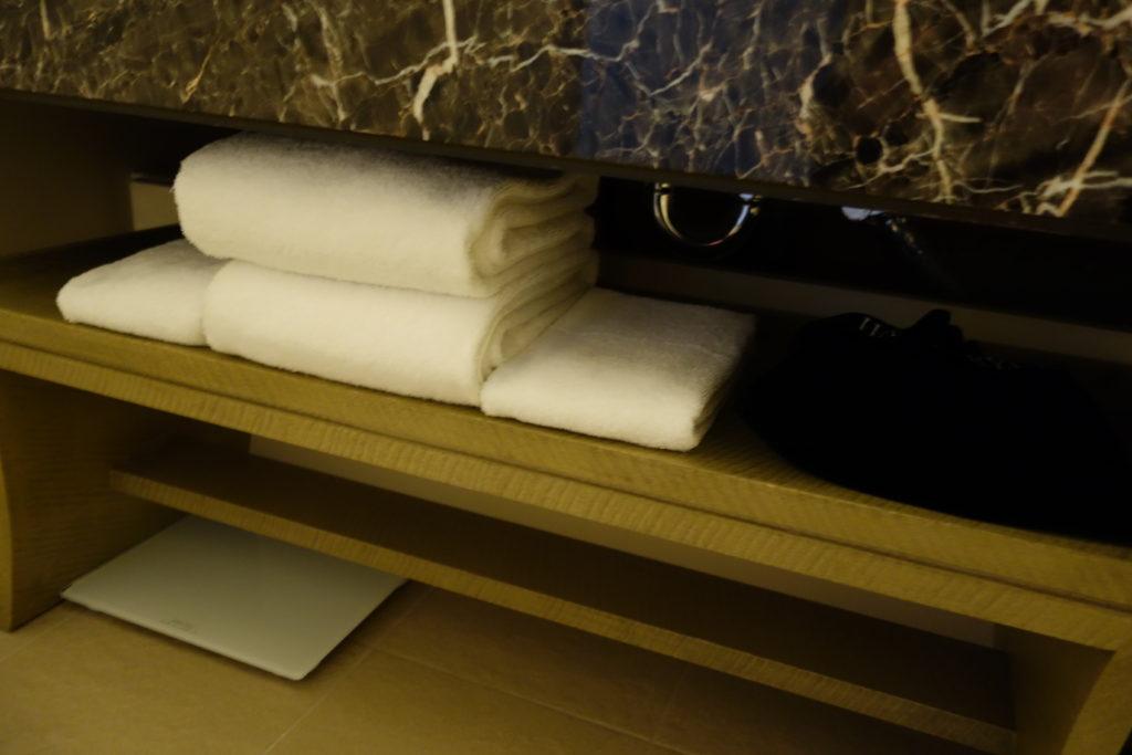 追加のタオル