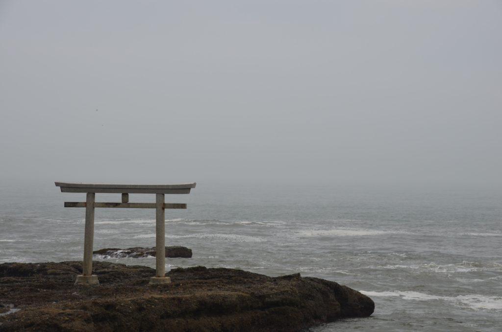 ガールズアンドパンツァー聖地巡礼大洗磯前神社海の鳥居2