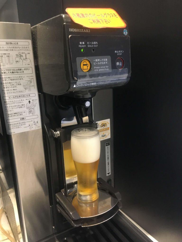 仙台空港ANAラウンジビール