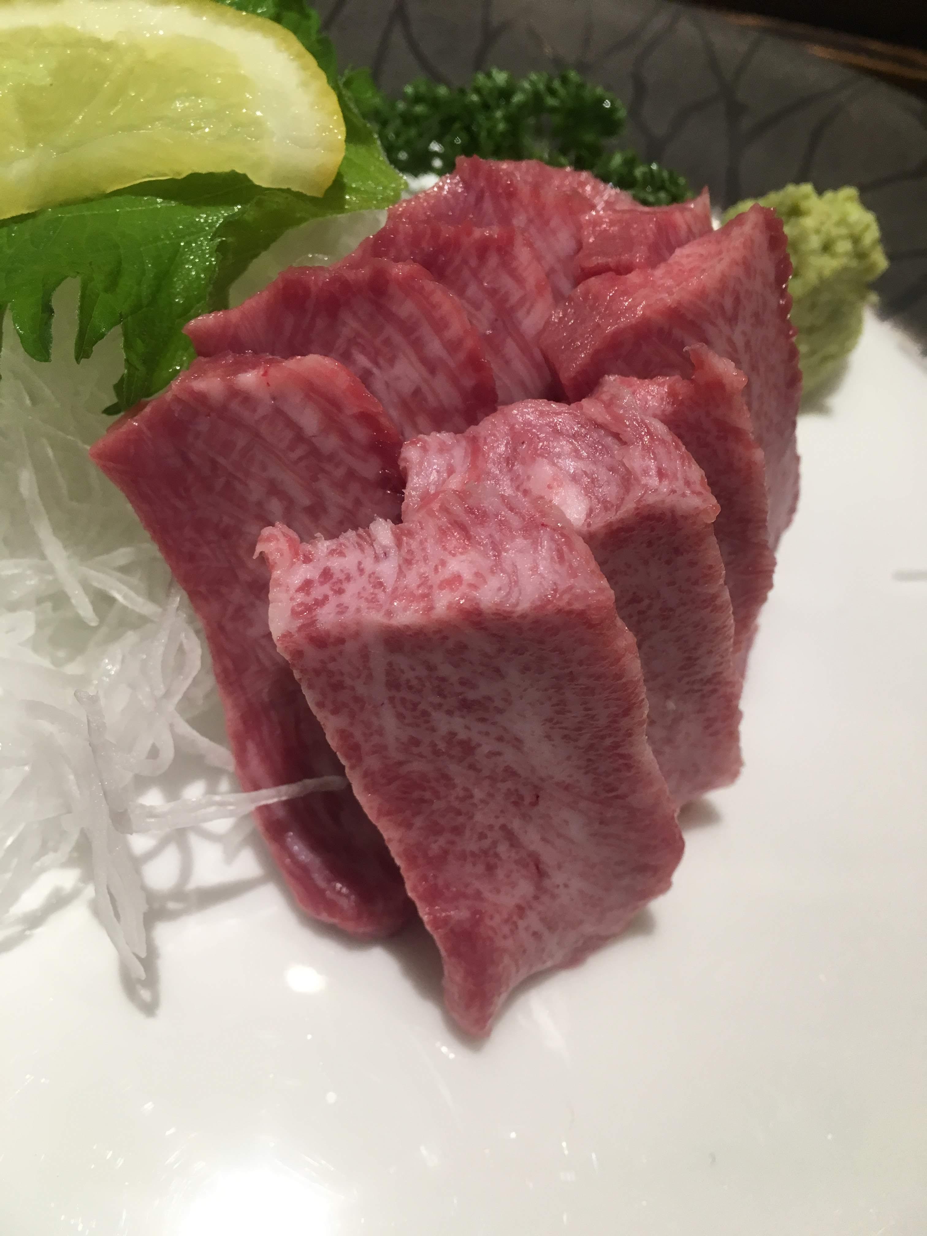 牛タン料理閣牛タン刺身2