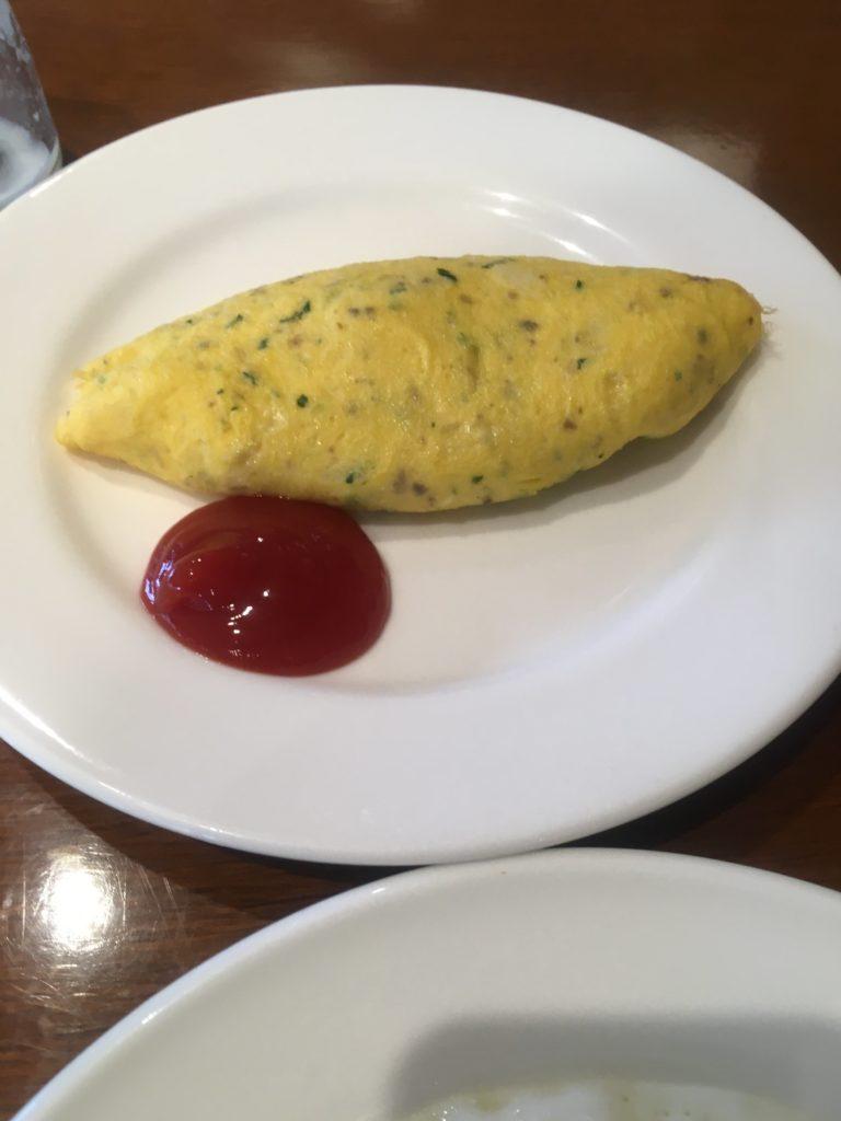 軽井沢マリオット朝食オムレツ