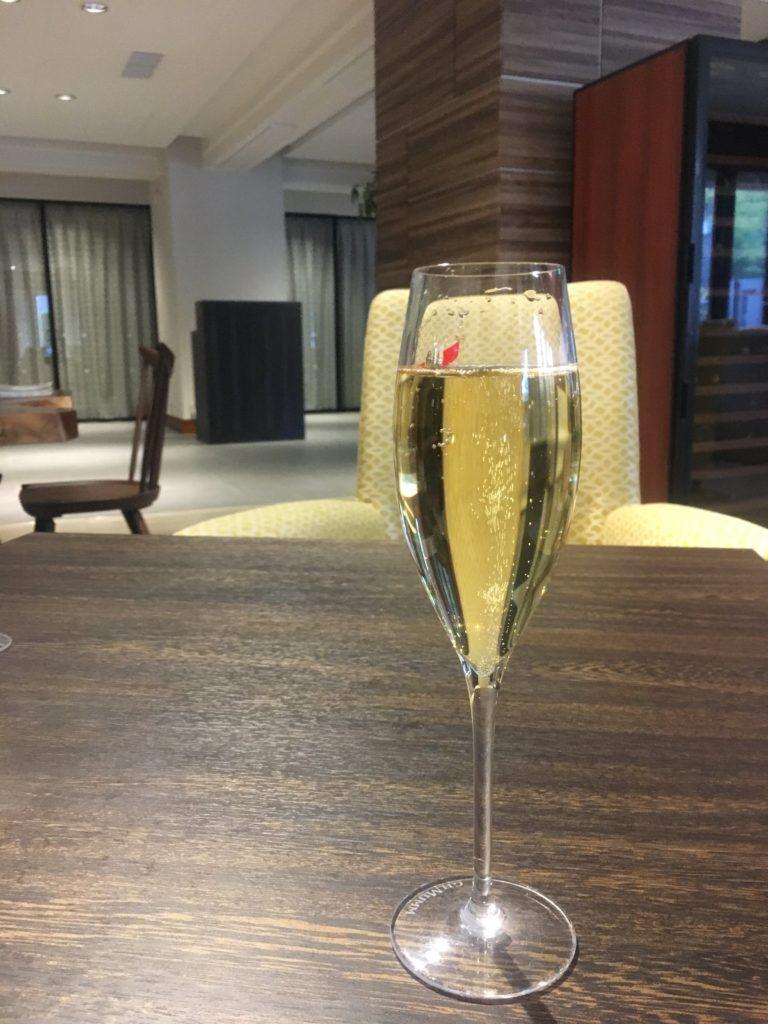 軽井沢マリオットラウンジスパークリングワイン