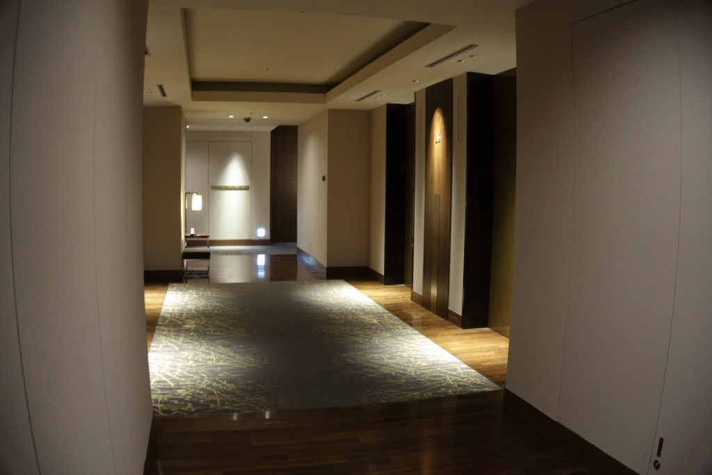 ウェスティンホテル仙台お部屋エレベータ