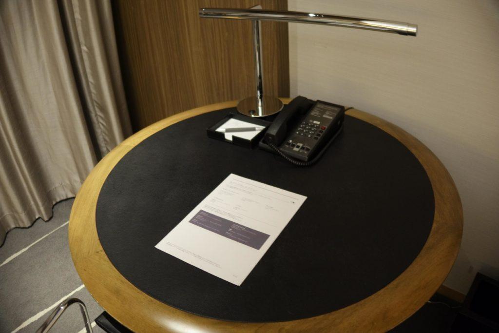 ウェスティンホテル仙台お部屋デスク