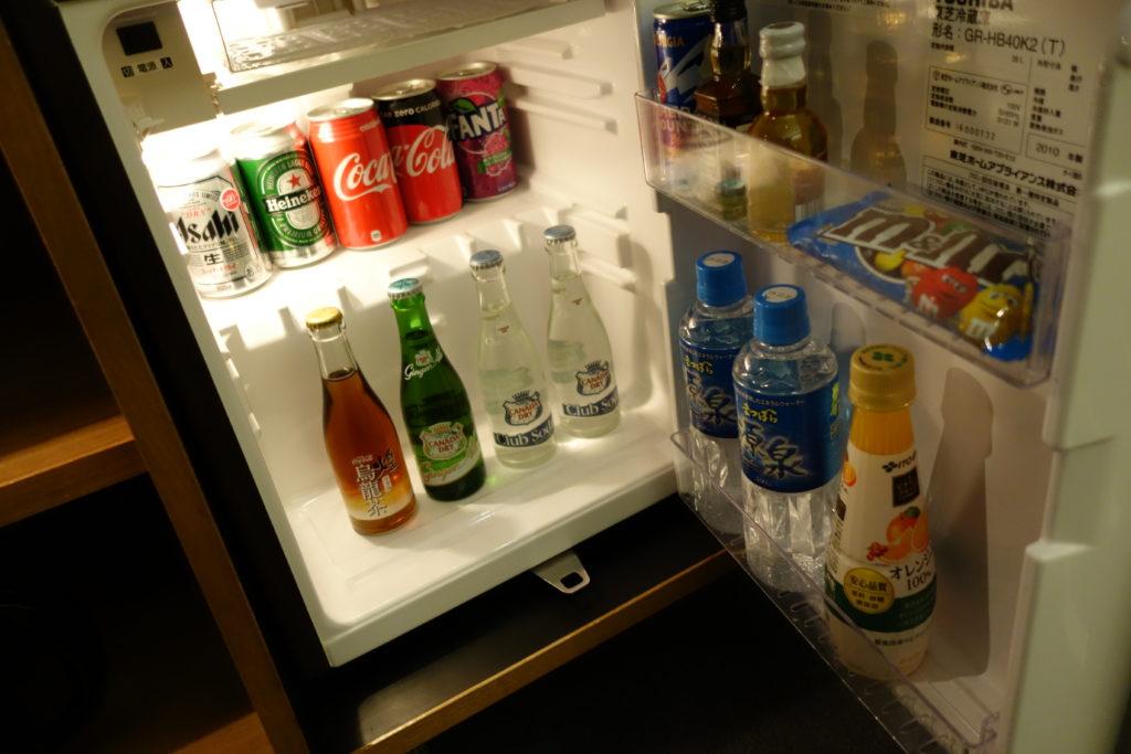 ウェスティンホテル仙台お部屋冷蔵庫
