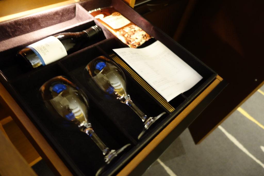 ウェスティンホテル仙台お部屋ミニバー
