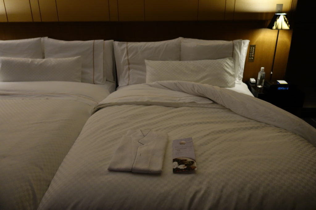 ウェスティンホテル仙台お部屋ターンダウン