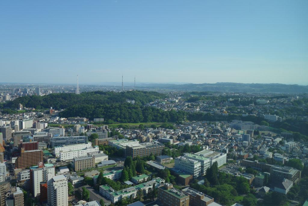 ウェスティンホテル仙台お部屋景色