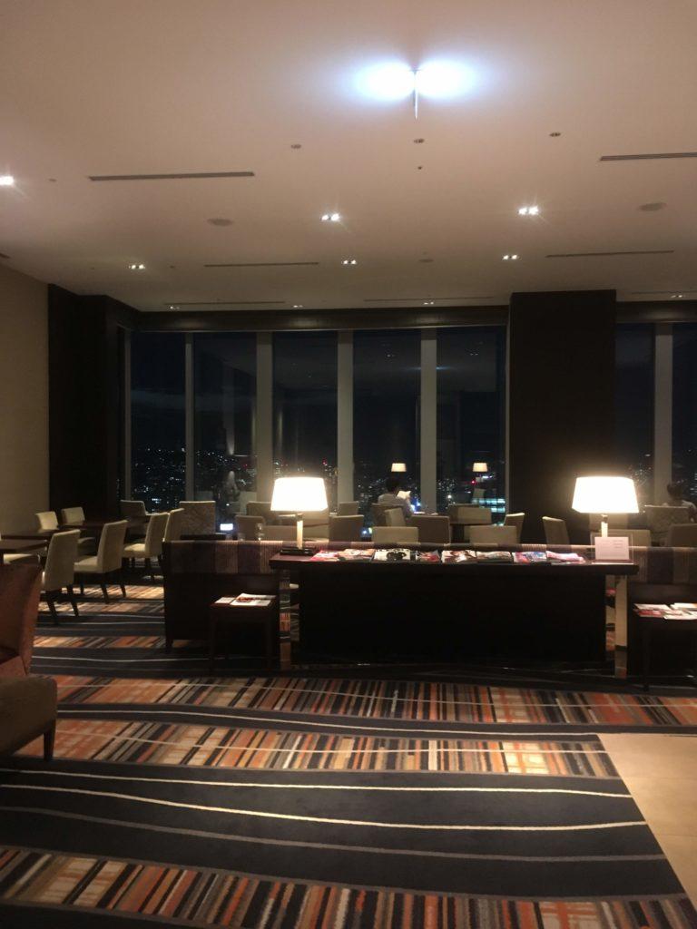 ウェスティンホテル仙台エグゼクティブクラブラウンジ全景