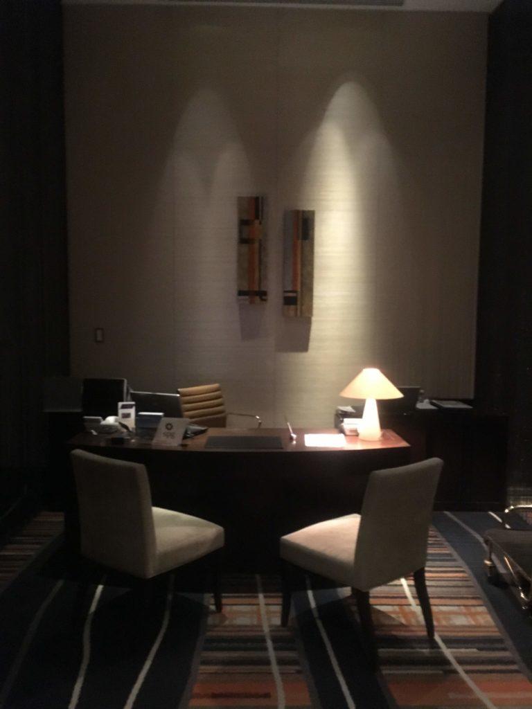 ウェスティンホテル仙台エグゼクティブクラブラウンジチェックイン