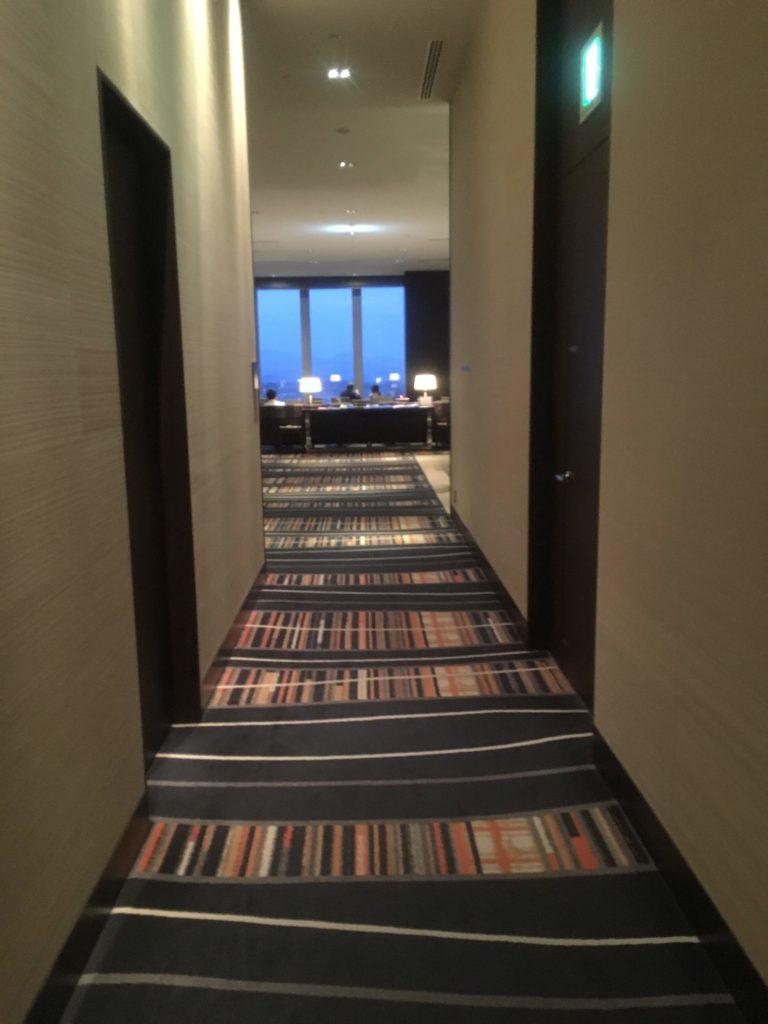 ウェスティンホテル仙台エグゼクティブクラブラウンジ入口