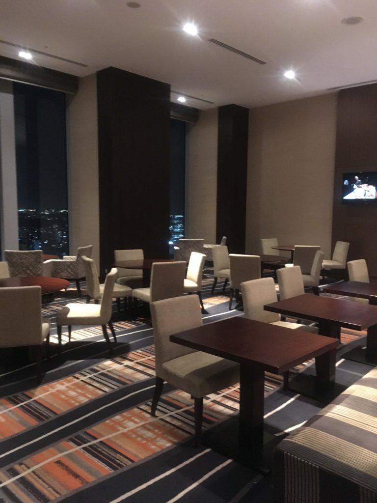 ウェスティンホテル仙台エグゼクティブクラブラウンジ座席