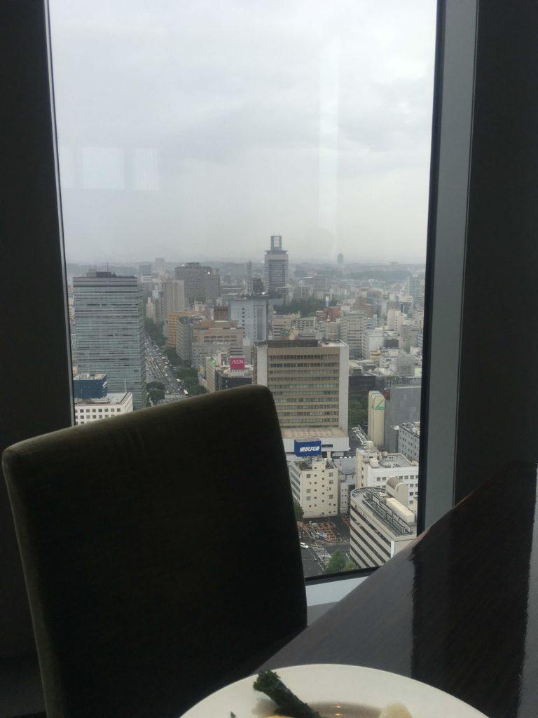 ウェスティンホテル仙台朝食レストランシンフォニー景色