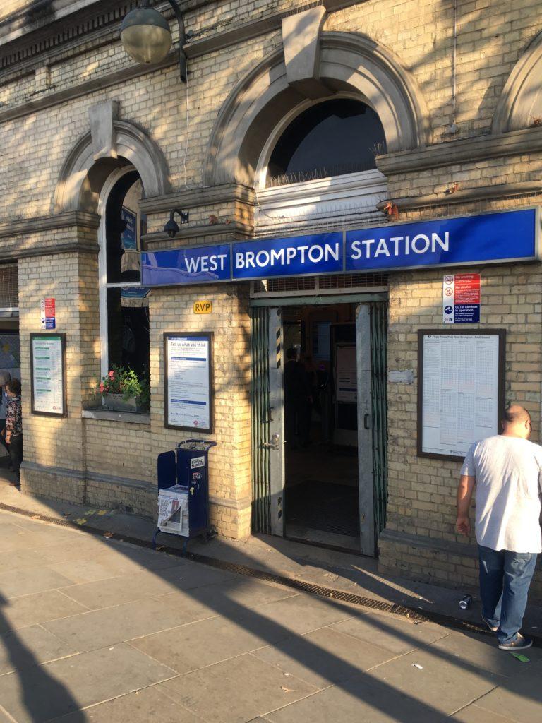 ロンドンけいおん!ウエストブロンプトン駅