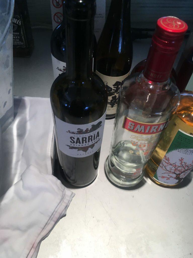 成田空港国際線ANAラウンジ赤ワイン