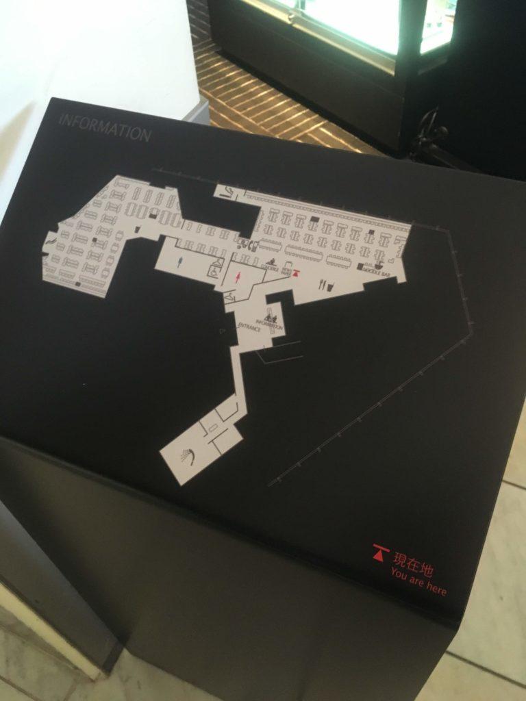 成田空港国際線ANAラウンジ案内図
