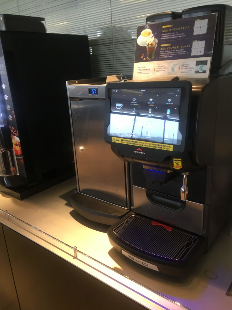 成田空港国際線ANAラウンジコーヒーマシン
