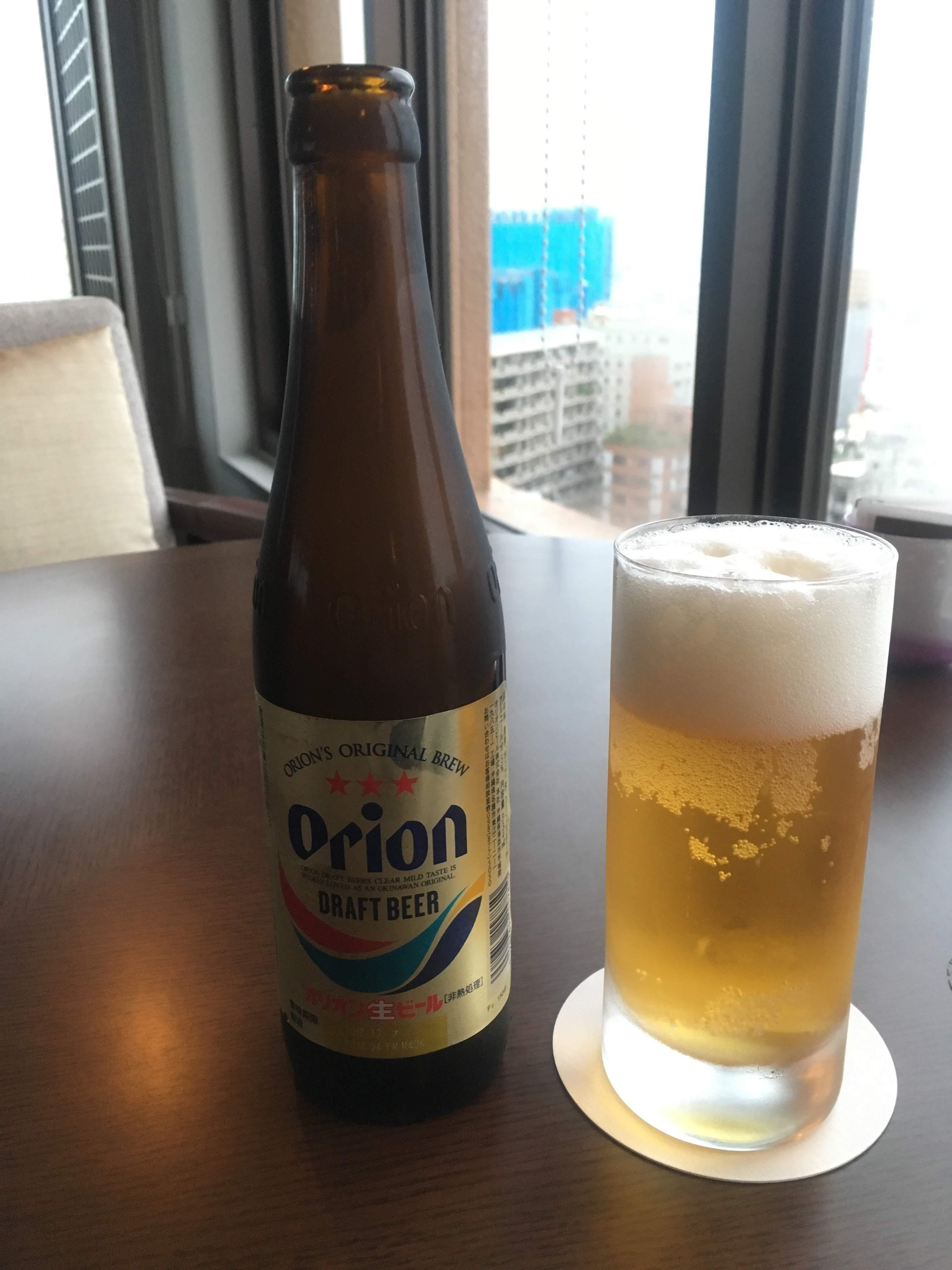 ANAクラウンプラザホテル沖縄ハーバービューラウンジオリオンビール