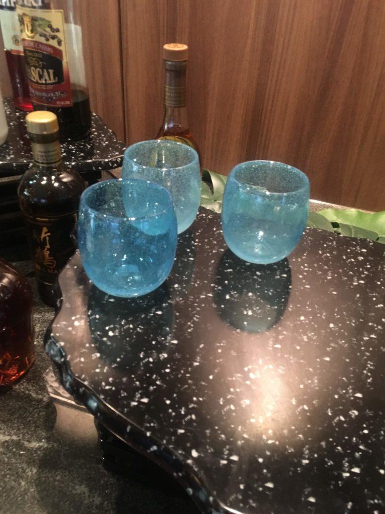ANAクラウンプラザホテル沖縄ハーバービューラウンジ泡盛グラス