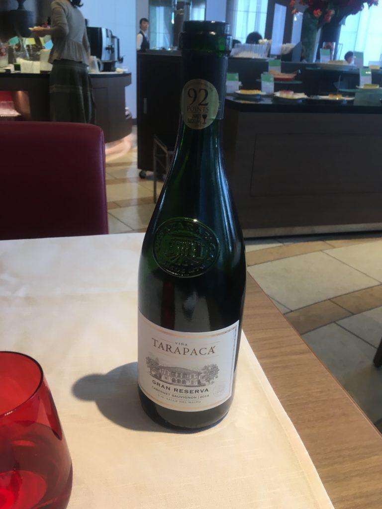ANAクラウンプラザ岡山ウェルカムドリンク赤ワイン