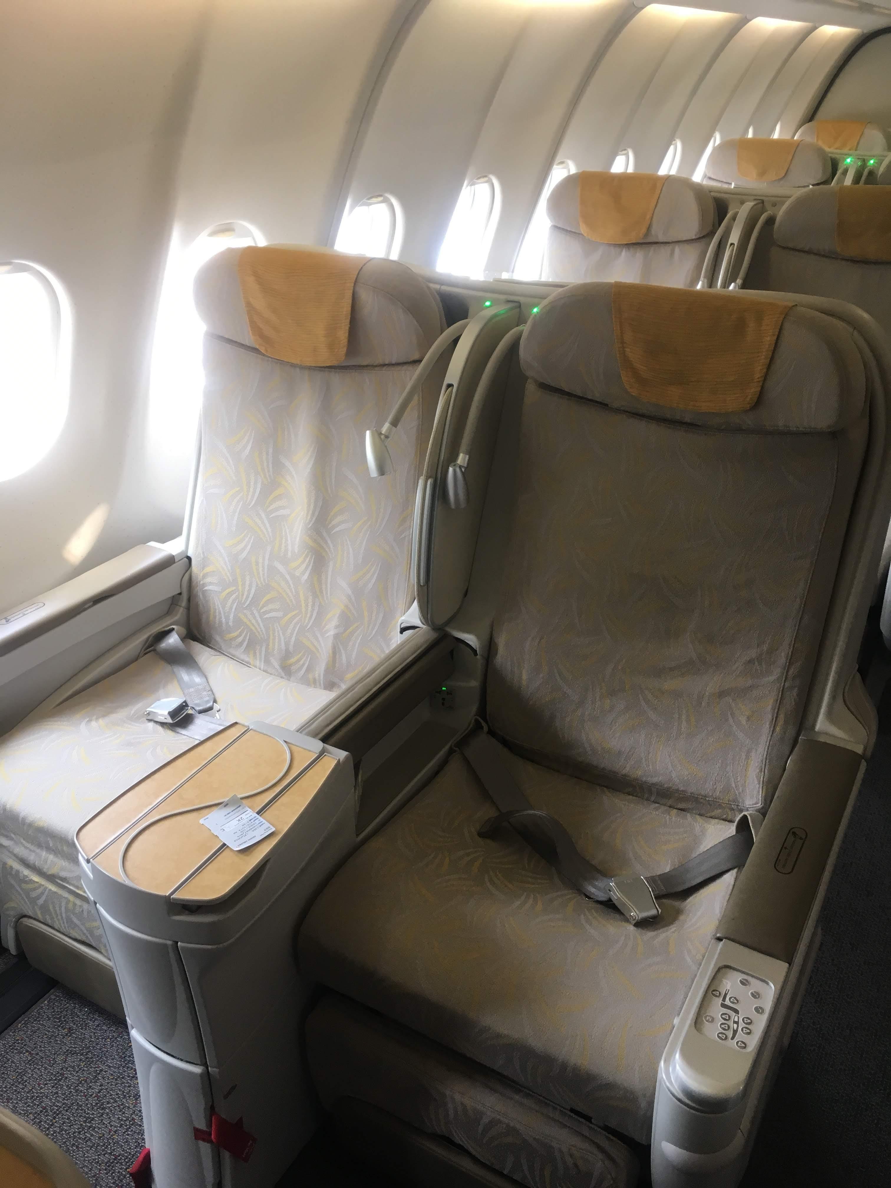 アシアナ航空ビジネスクラス座席