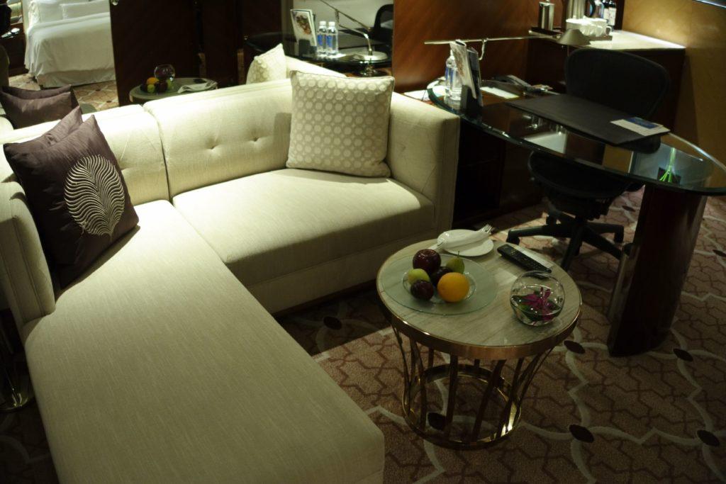 ウェスティン外灘センター上海お部屋ソファ