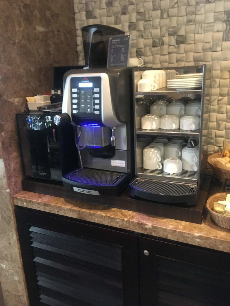 シェラトングランド仁川クラブラウンジコーヒーマシン
