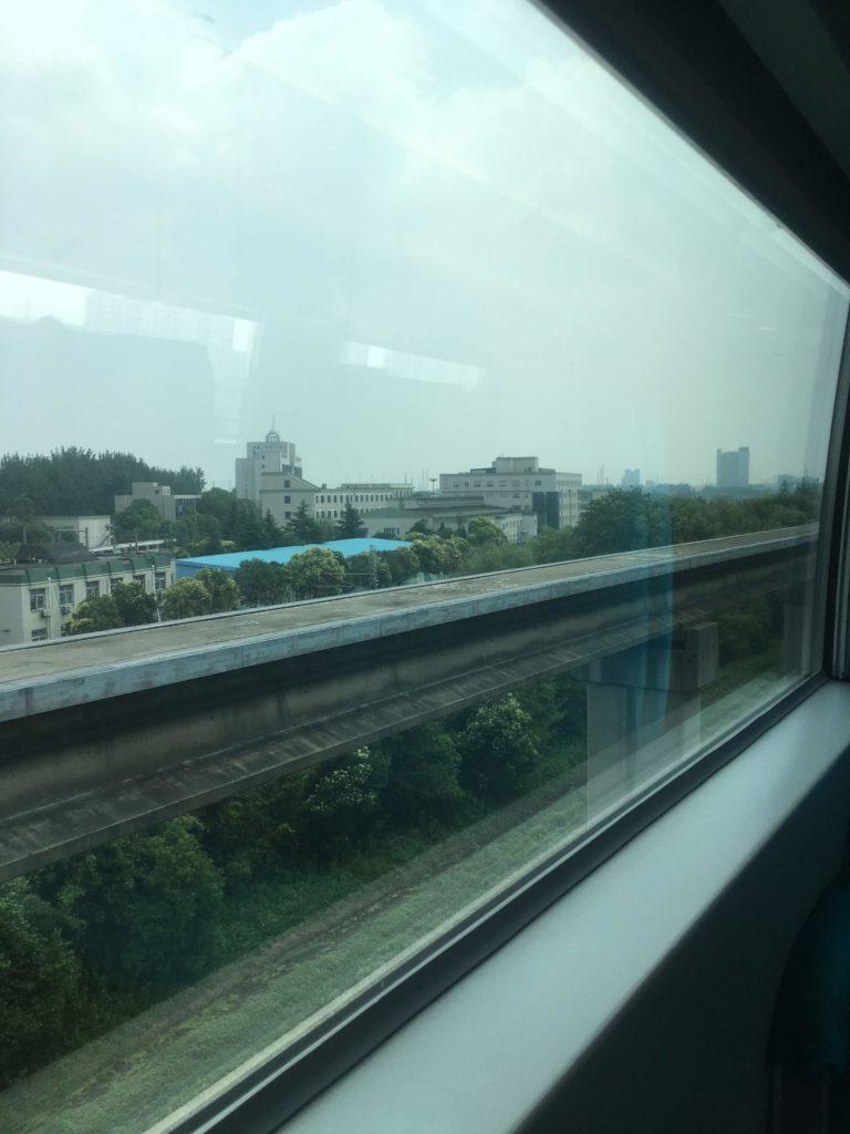 上海リニアマグレブ景色