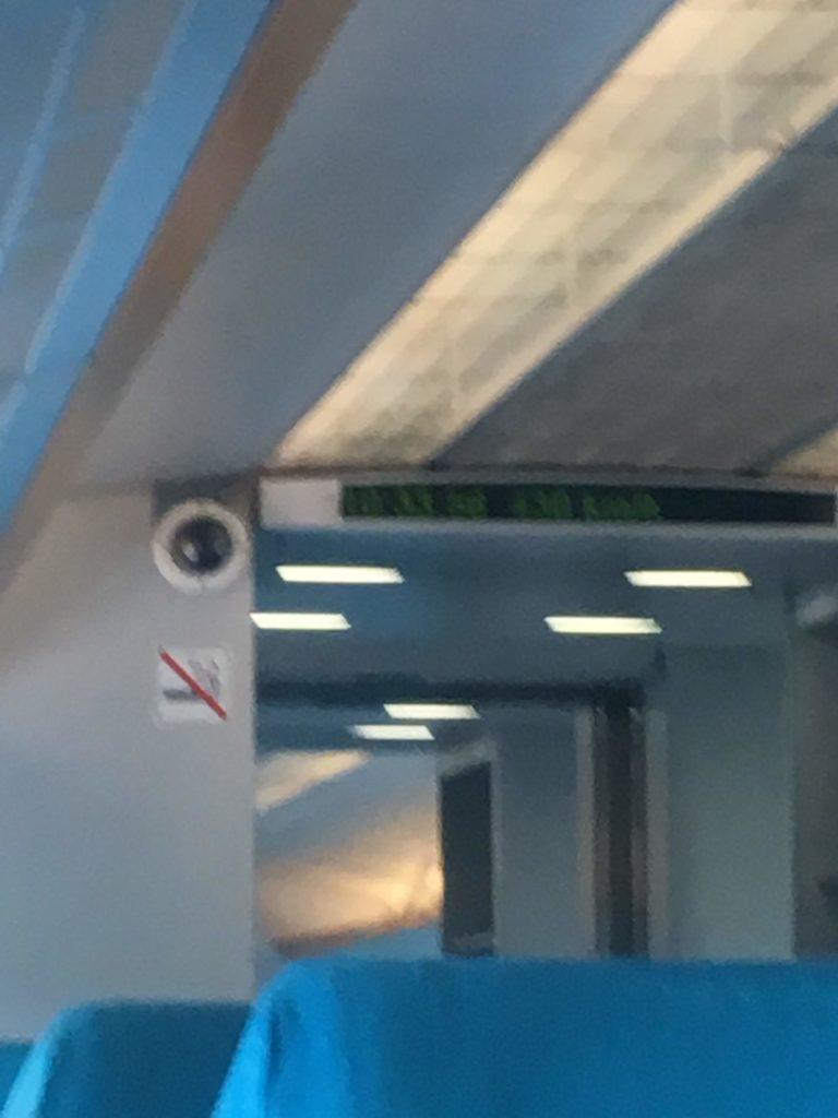 上海リニアマグレブ車内監視カメラ