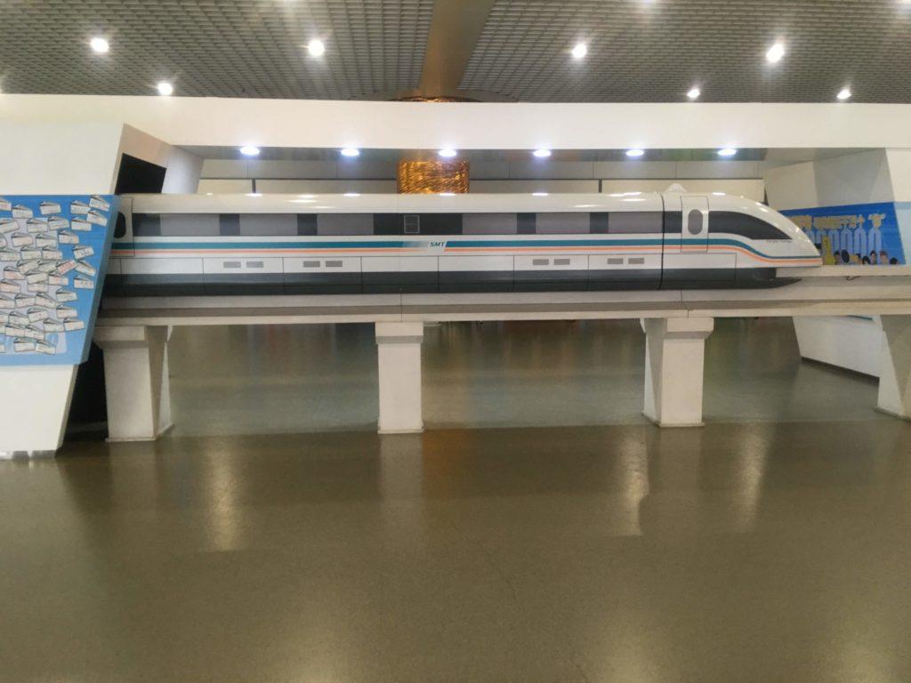 上海リニアマグレブ模型
