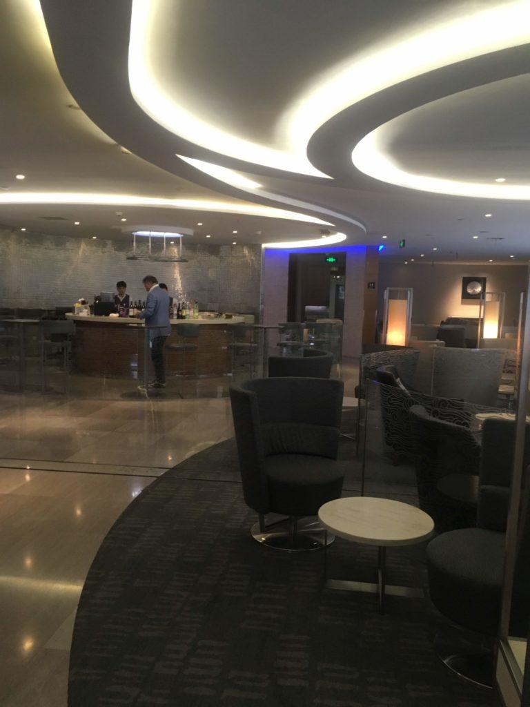上海浦東空港中国国際航空ラウンジ座席