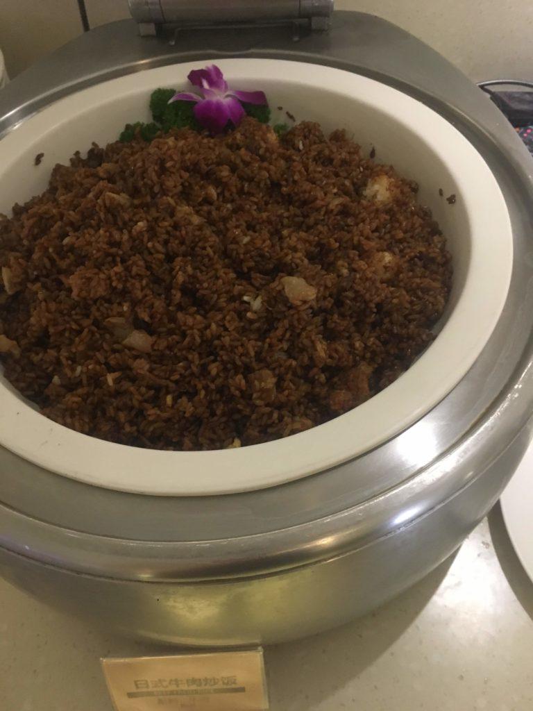 上海浦東空港中国国際航空ラウンジお食事6