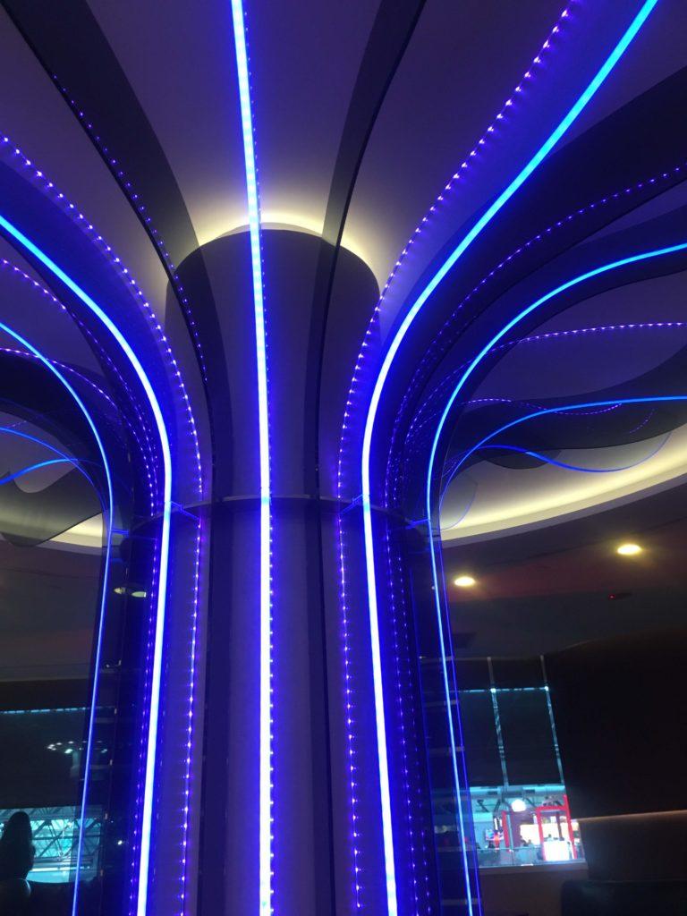 台湾桃園国際空港エバー航空ラウンジ雰囲気