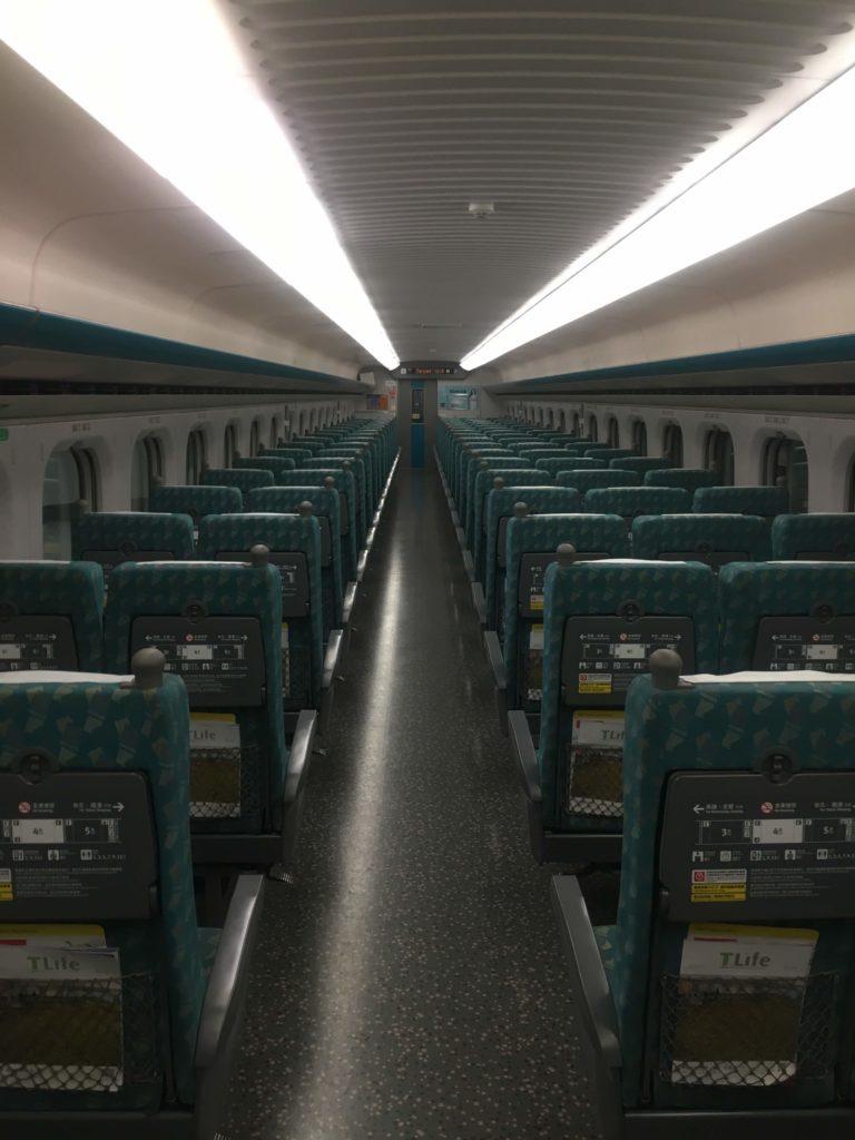 台湾高速鉄道新幹線車両内