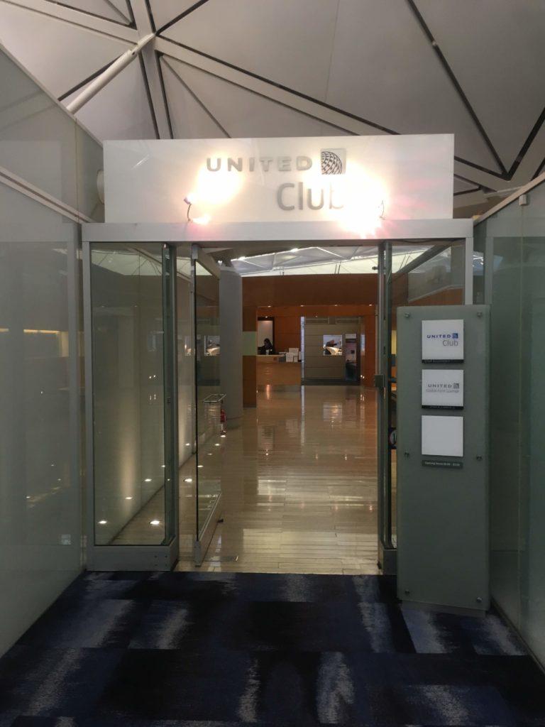 香港国際空港ユナイテッド航空ラウンジ入口