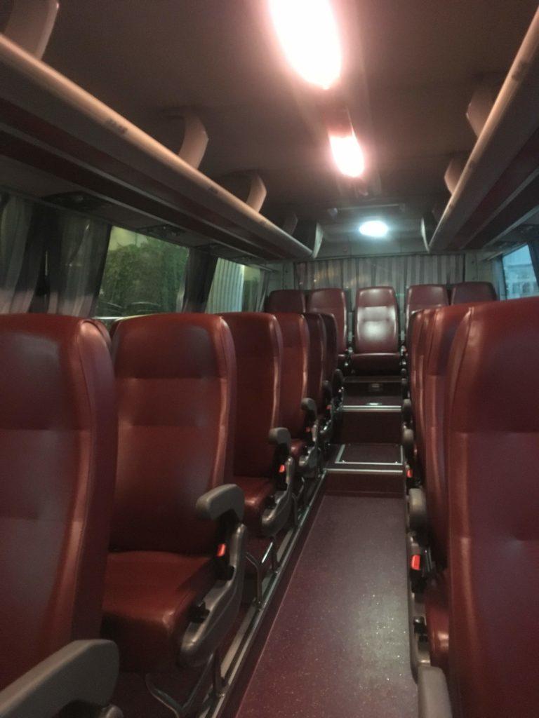 インチョン ネストホテルバス車内