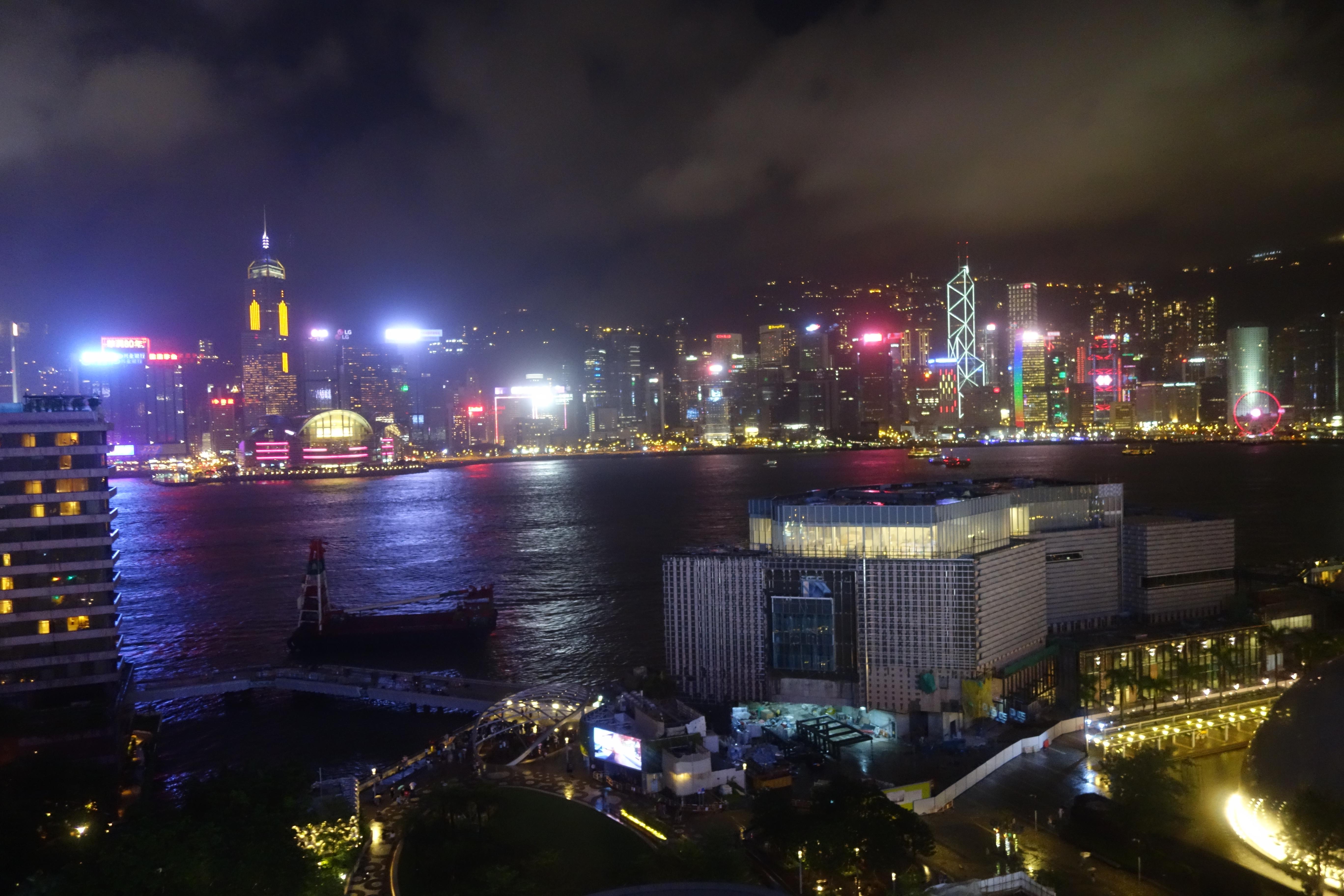 シェラトン香港ホテル&タワーズお部屋からの夜景