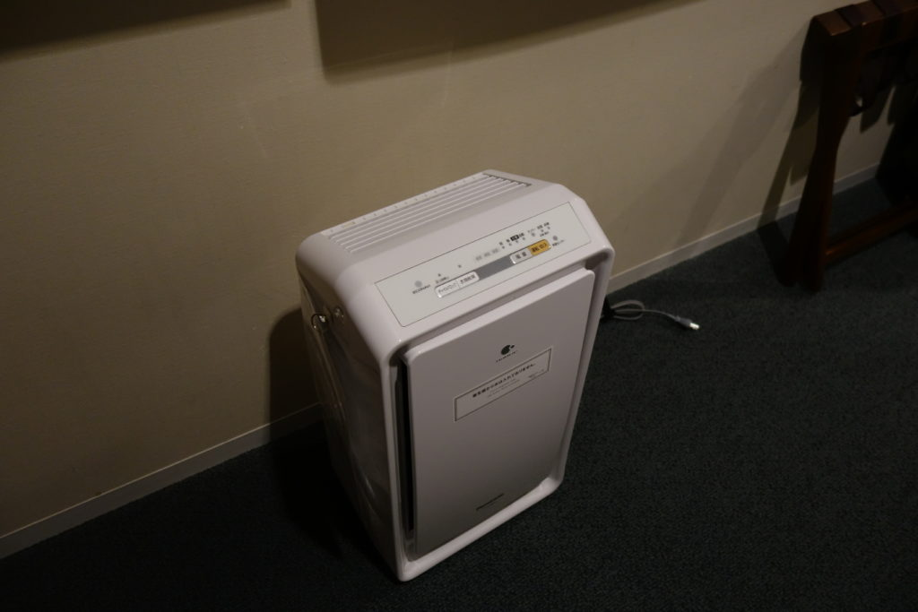 三井ガーデンホテル仙台お部屋空気清浄機