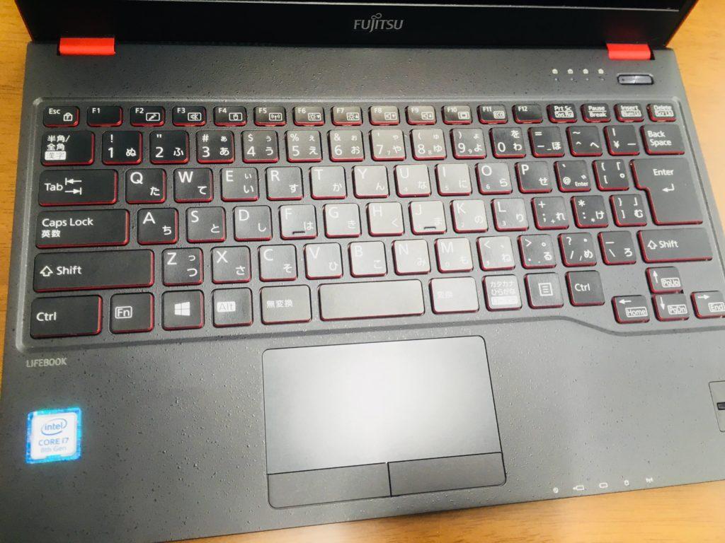 富士通LIFEBOOKWU2C2キーボード2