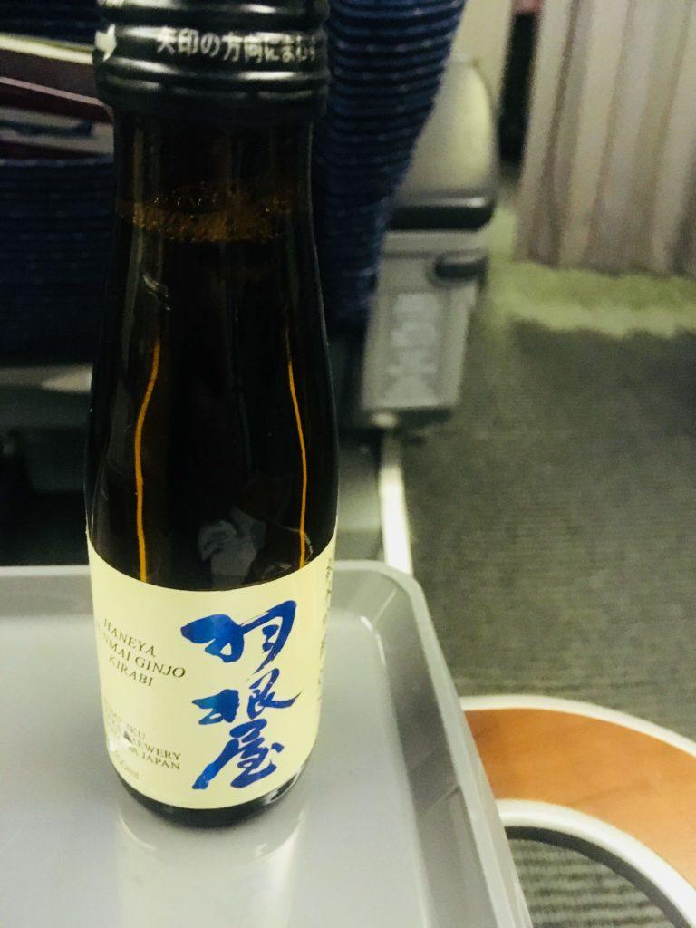 ANAプレミアムクラス那覇行き日本酒