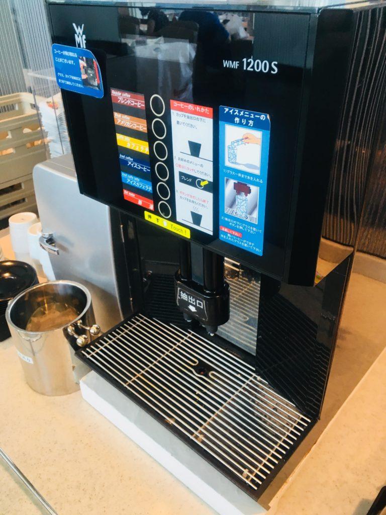 那覇空港ANAラウンジコーヒーマシン