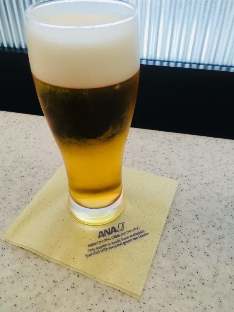 那覇空港ANAラウンジオリオンビール