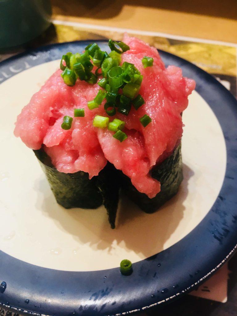 魚屋さんの新鮮回転寿司横須賀中央店ねぎとろ