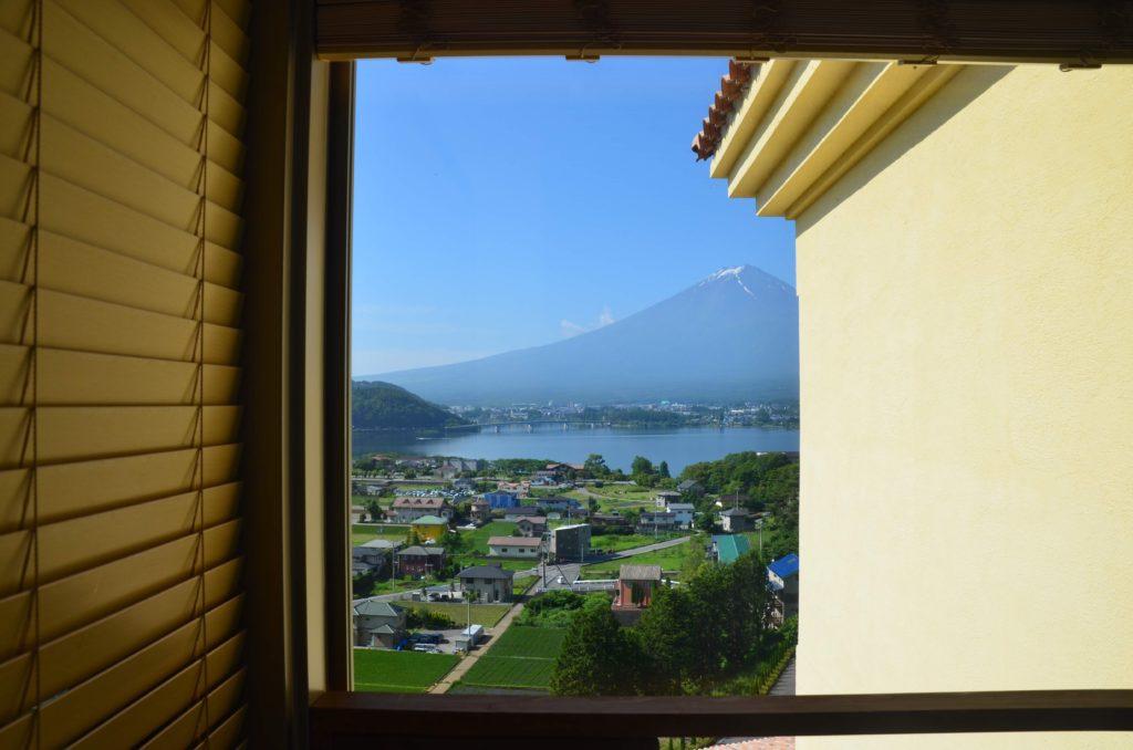 ラビスタ富士河口湖お部屋のお風呂から富士山