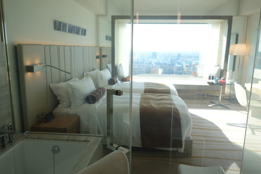 ザ・プリンスギャラリー東京紀尾井町,ラグジュアリーコレクションホテルお部屋のガラス張りの風呂