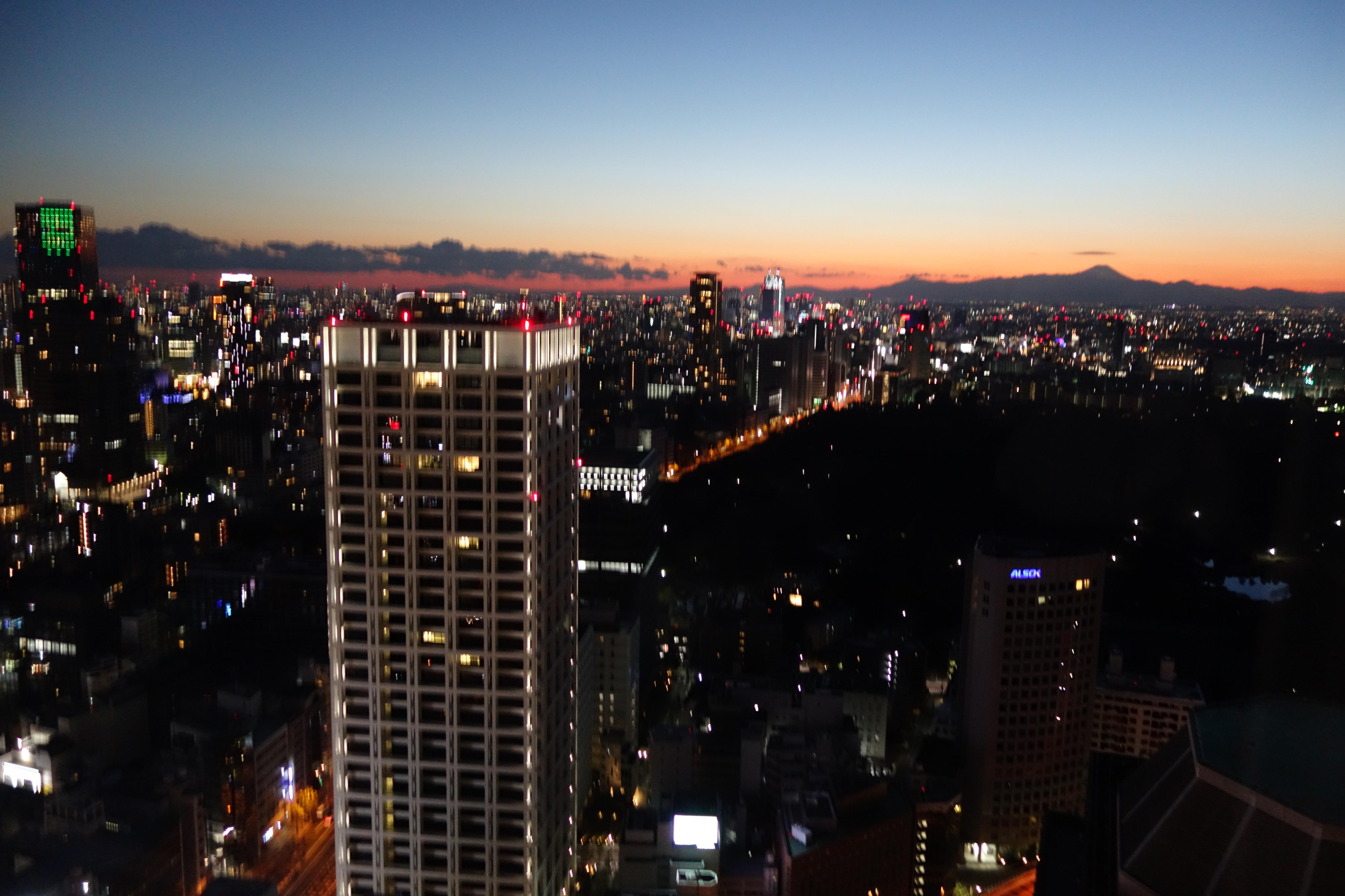 ザ・プリンスギャラリー東京紀尾井町,ラグジュアリーコレクションホテルお部屋からの夜景2