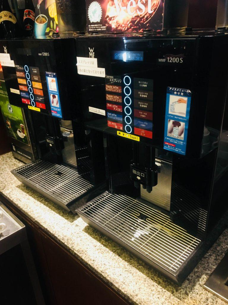 ホテルロコアナハ朝食コーヒーメーカー