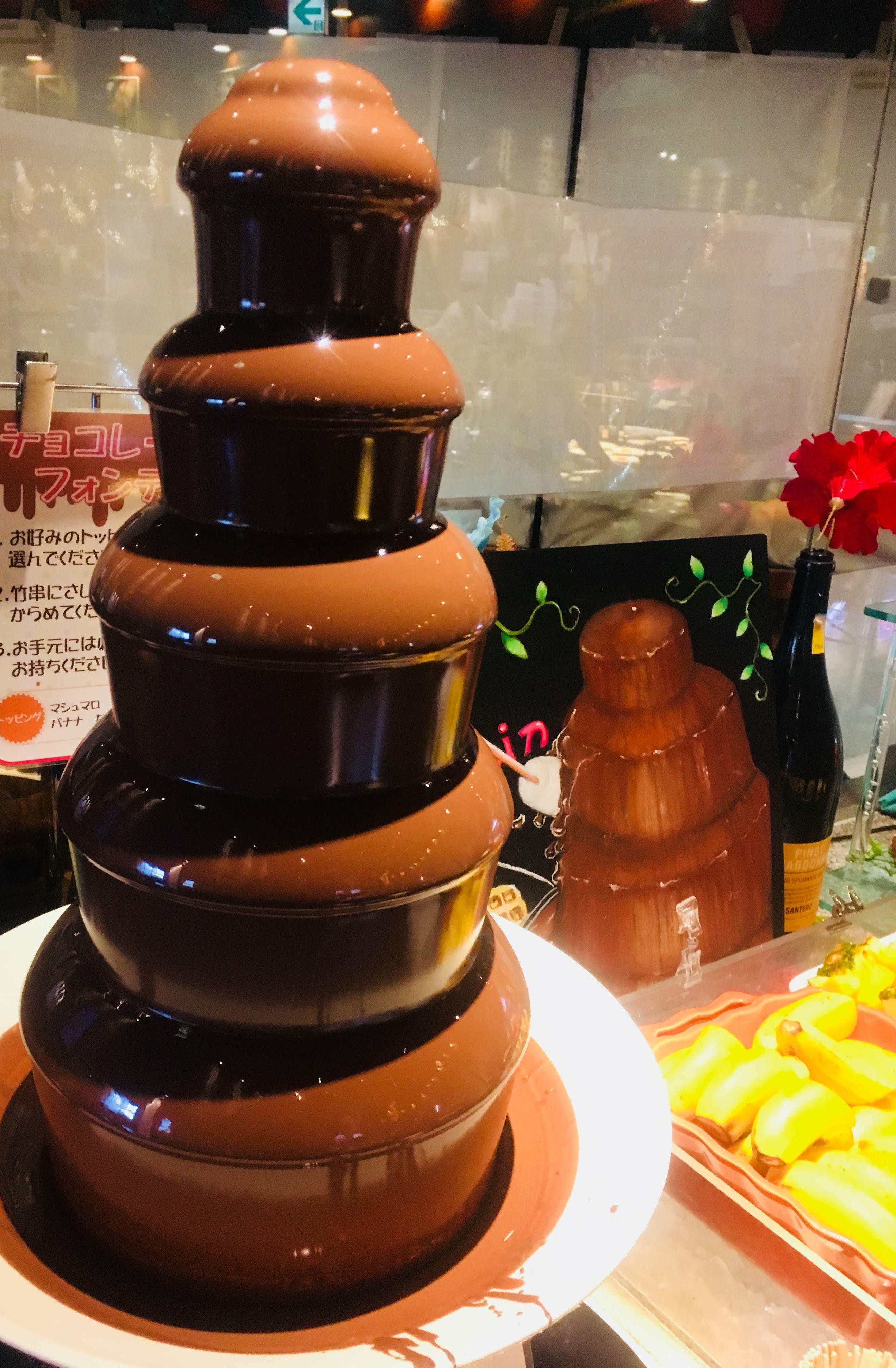 ホテルロコアナハ朝食チョコレートフォンデュ