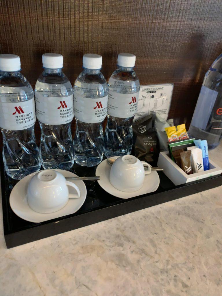 バンコク・マリオットホテル・ザ・スリウォン無料の水