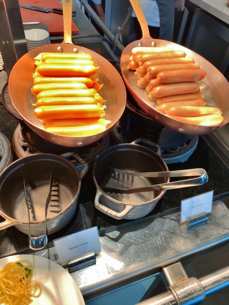 セントレジスバンコク朝食 ソーセージ